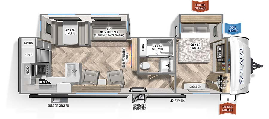 304RKDS Floorplan