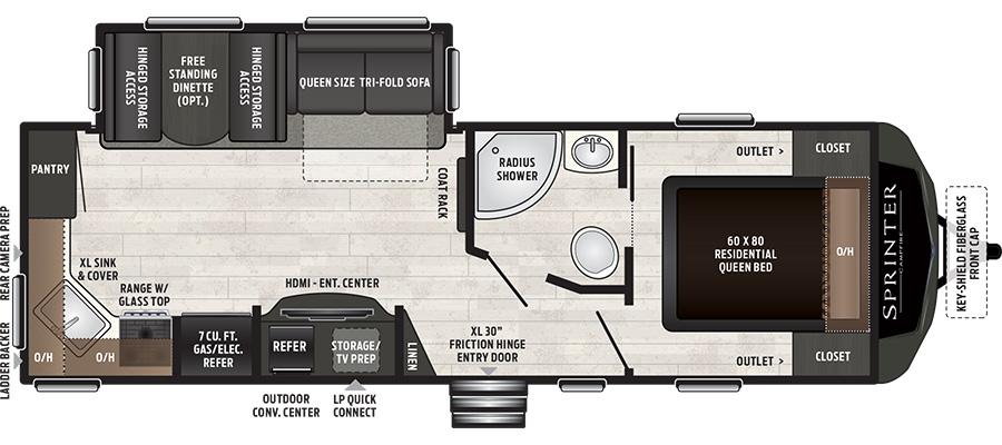 2019 Sprinter Campfire 26RK - stock no. X001119 - image  - thumbnail