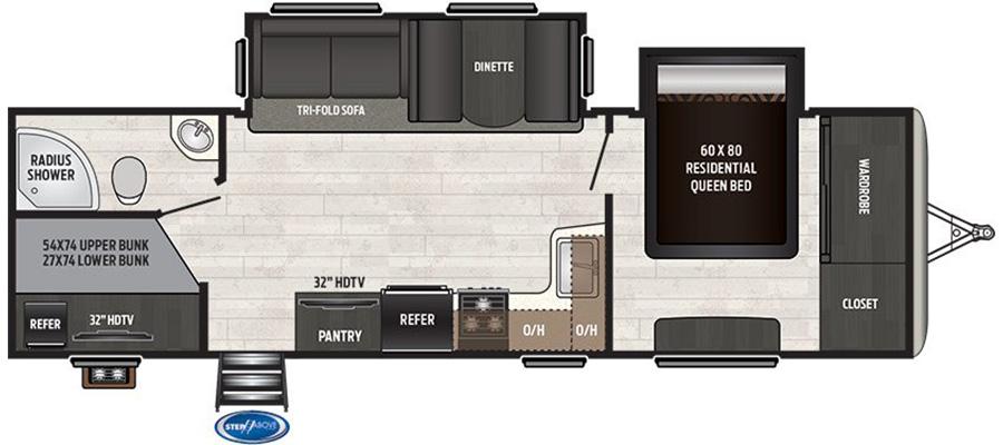 Sprinter Campfire 29BH floorplan image