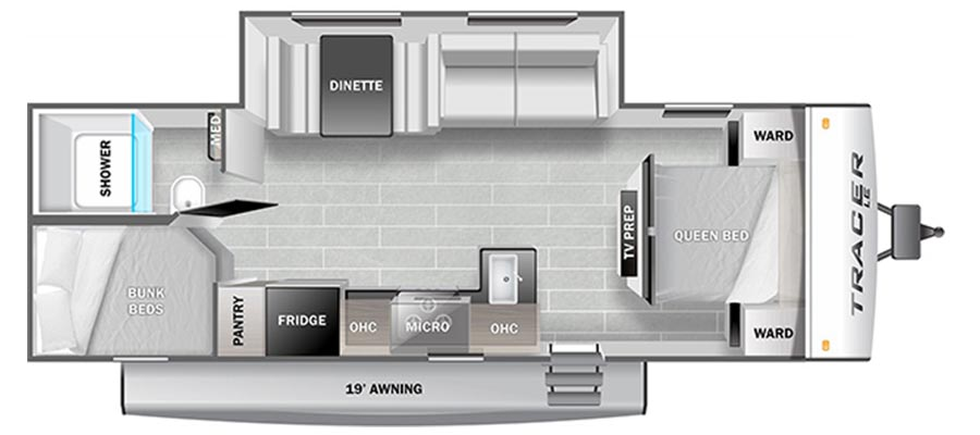 260BHSLE Floorplan