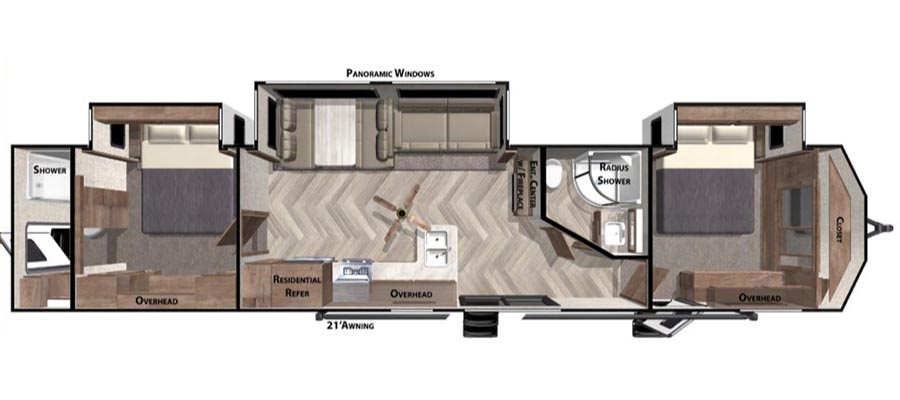 Click here to see the New 2020 Wildwood DLX 4002Q Park Trailer by Forest River at RVWholesalers.com