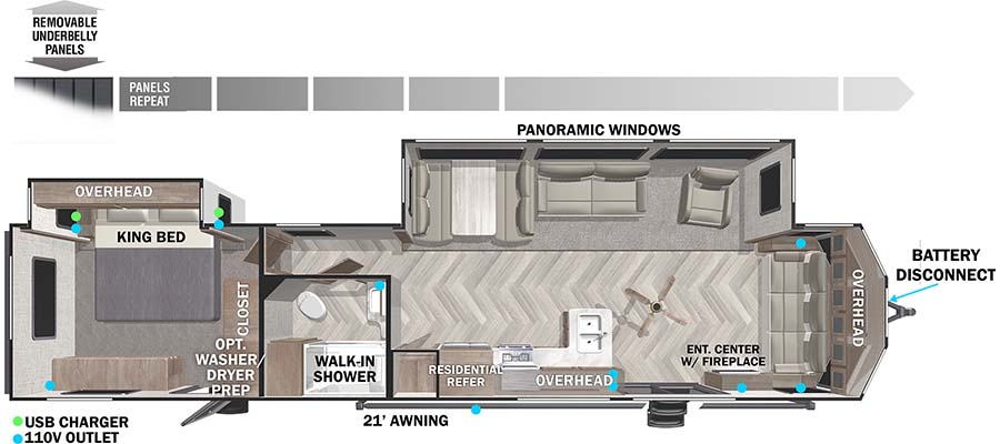 2021 Wildwood Lodge 40FDEN - stock no. 060213 - image  - thumbnail