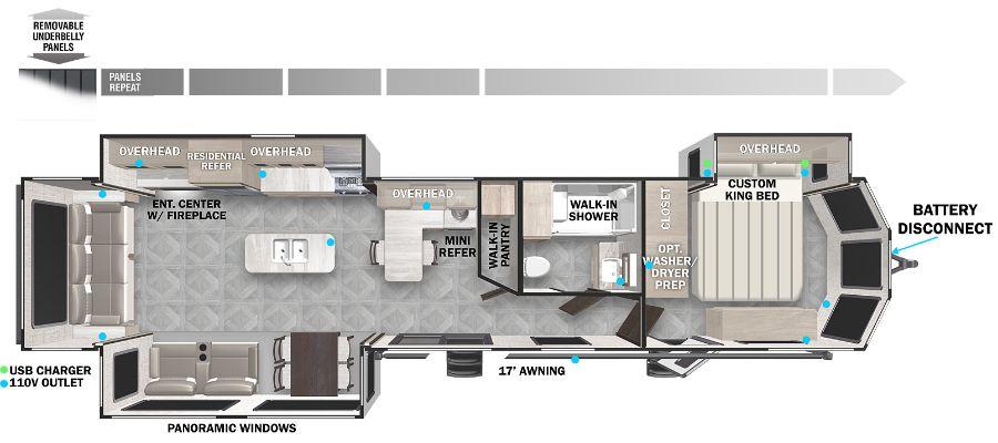 2022 Forest River Wildwood Lodge 40RLB Park Trailer: image 1