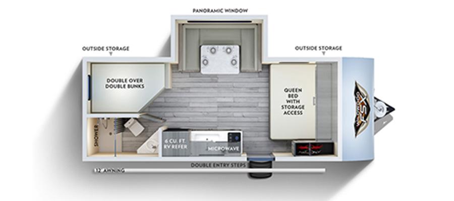 2019 Wildwood FSX 178BHS - stock no. X000971 - image  - thumbnail
