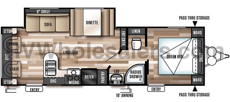 254RLXL Floorplan