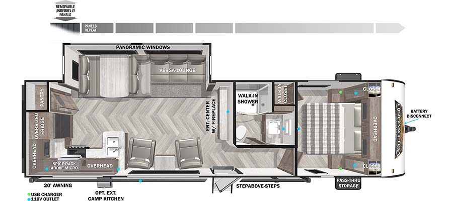 Wildwood 27RK floorplan image
