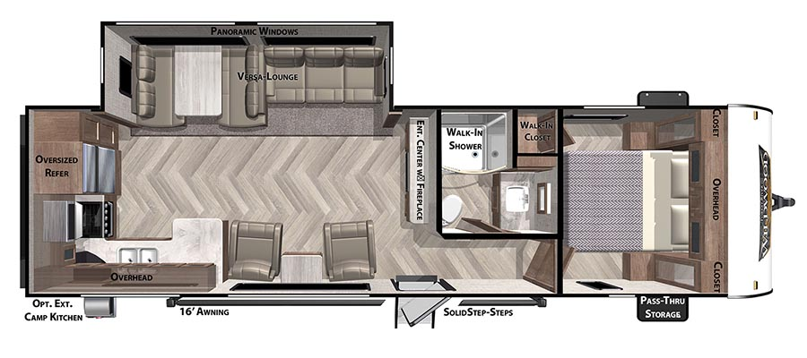 Click here to see the New 2021 Wildwood 27RKS Travel Trailer by Forest River at RVWholesalers.com