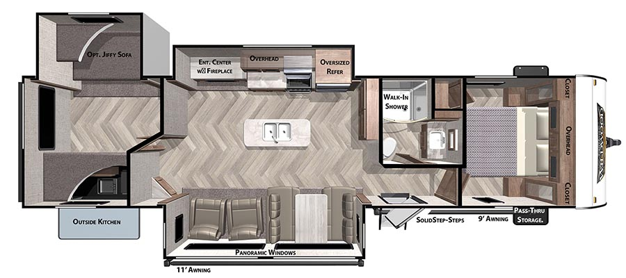 32BHT Floorplan