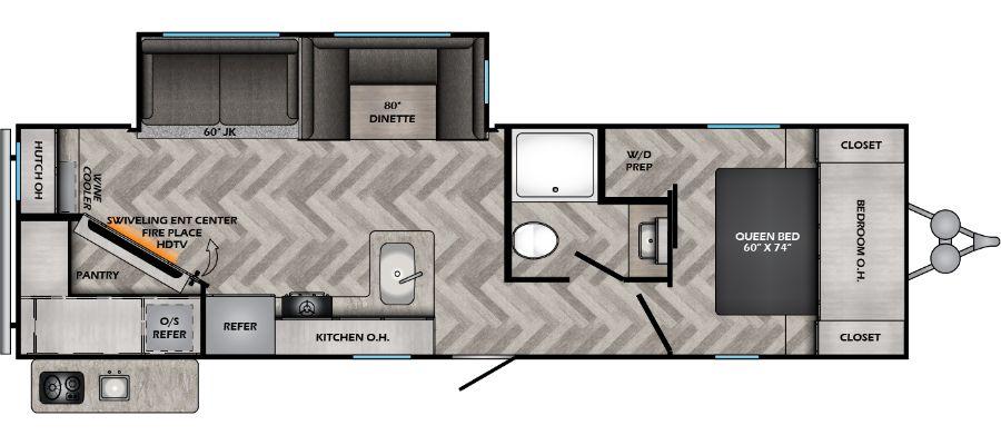 Zinger 299RE floorplan image