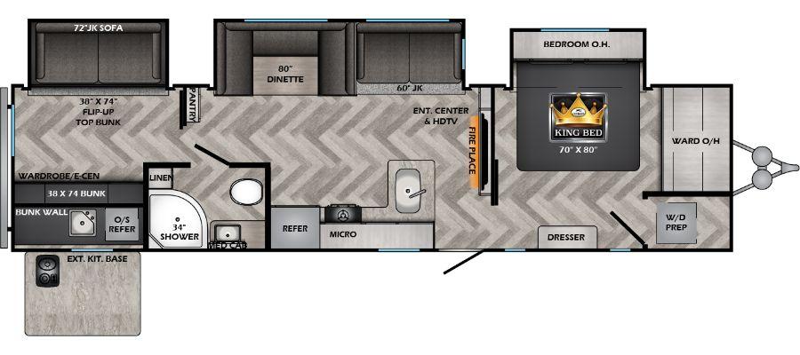 Zinger 340BH floorplan image