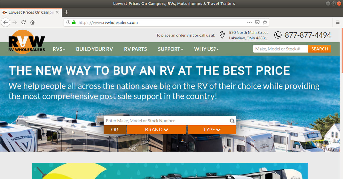 Lowest Prices On Campers, RVs, Motorhomes & Travel Trailers