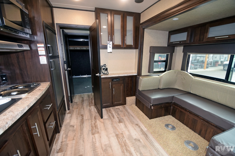Click here to see the New 2017 XLR Hyper Lite 27HFS Toy Hauler Travel Trailer by Forest River at RVWholesalers.com