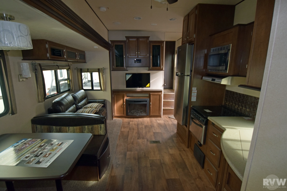 Click here to see the New 2017 Heritage Glen Lite 356QB Fifth Wheel by Forest River at RVNation.us