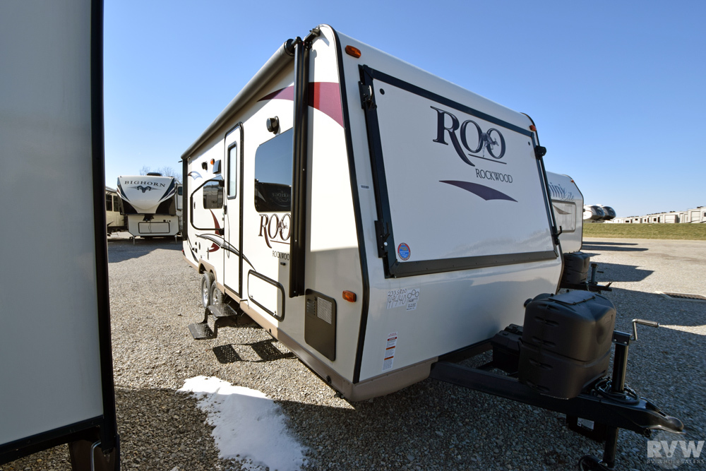 Click here to see the New 2017 Rockwood Roo 233S Hybrid Camper by Forest River at RVWholesalers.com