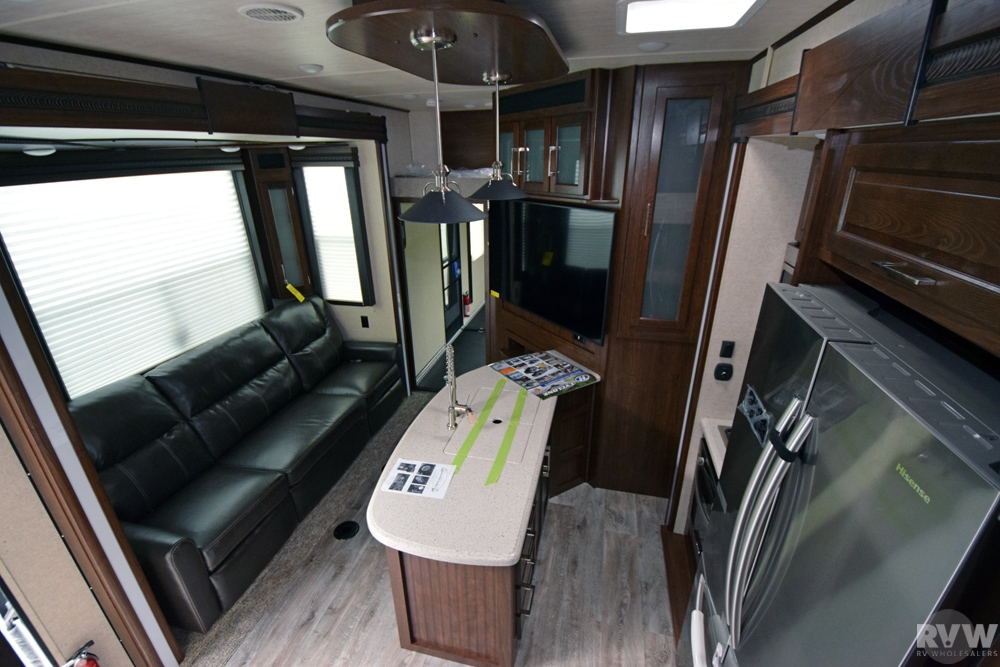 Click here to see the New 2017 Cyclone 3513 Toy Hauler Fifth Wheel by Heartland RV at RVWholesalers.com
