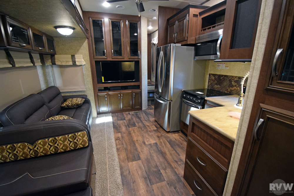 Click here to see the New 2017 Sandpiper 365SAQB Fifth Wheel by Forest River at RVWholesalers.com