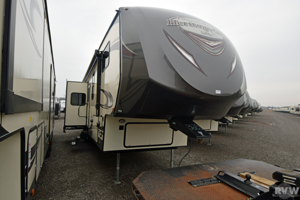 Click here to see the New 2017 Heritage Glen Lite 372RD Fifth Wheel by Forest River at RVWholesalers.com