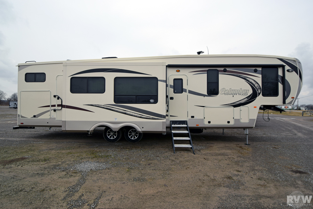 Click here to see the New 2017 Columbus Compass Series 374BHC Fifth Wheel by Palomino at RVWholesalers.com