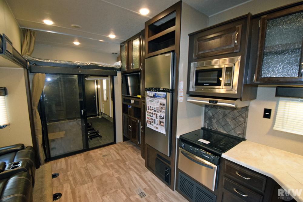 Click here to see the New 2017 Puma 384FQS Toy Hauler Fifth Wheel by Palomino at RVWholesalers.com