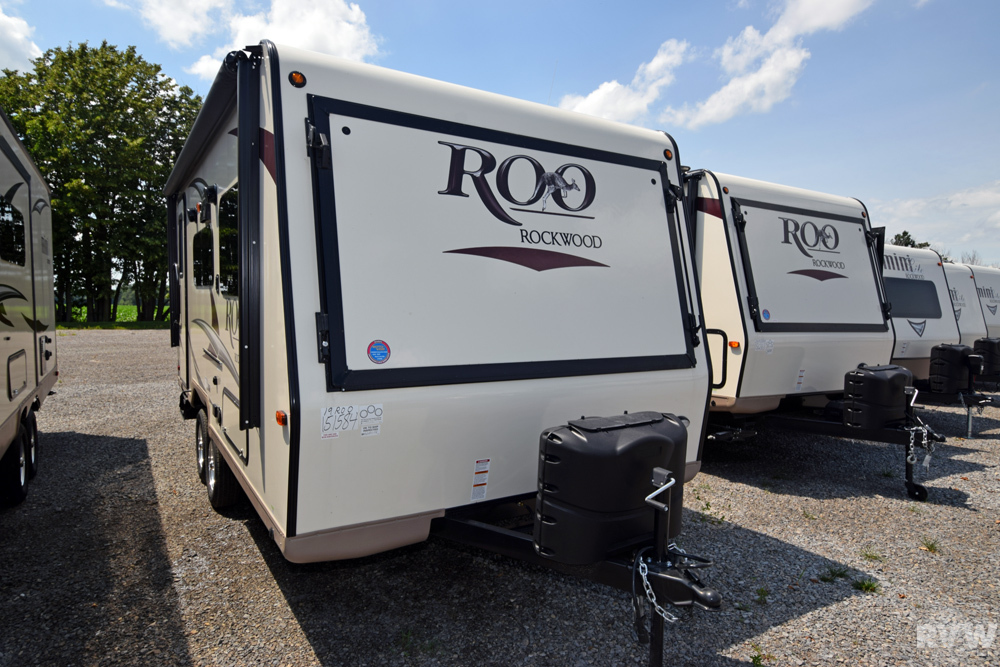 Click here to see the New 2018 Rockwood Roo 19 Hybrid Camper by Forest River at RVWholesalers.com