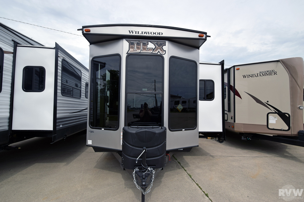Click here to see the New 2018 Wildwood DLX 353FLFB Park Trailer by Forest River at RVWholesalers.com