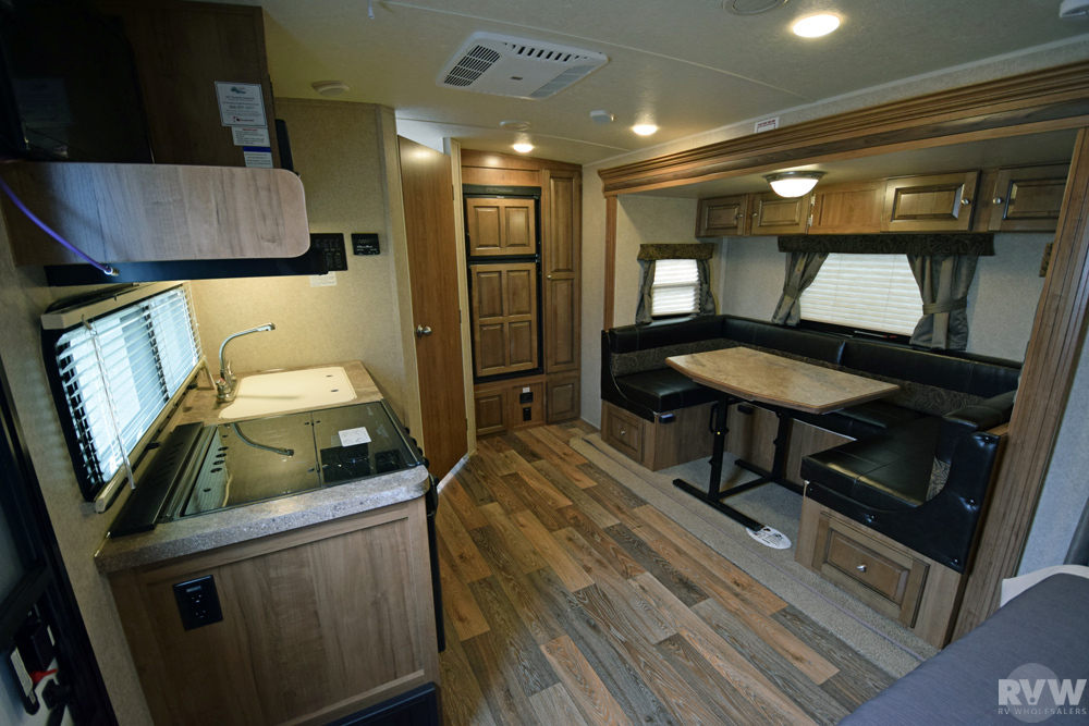 Click here to see the New 2017 Rockwood Mini Lite 2104S Travel Trailer by Forest River at RVWholesalers.com