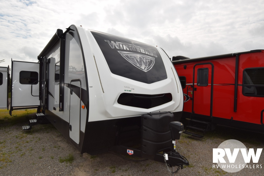 Click here to see the New 2018 Minnie Plus 30RLSS Travel Trailer by Winnebago at RVWholesalers.com