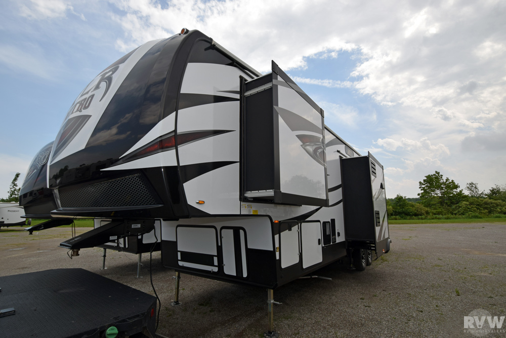 Click here to see the New 2018 XLR Nitro 36TI5 Toy Hauler Fifth Wheel by Forest River at RVWholesalers.com