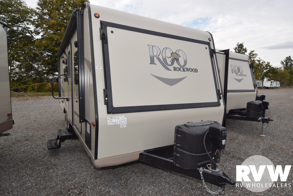 Click here to see the New 2018 Rockwood Roo 233S Hybrid Camper by Forest River at RVNation.us