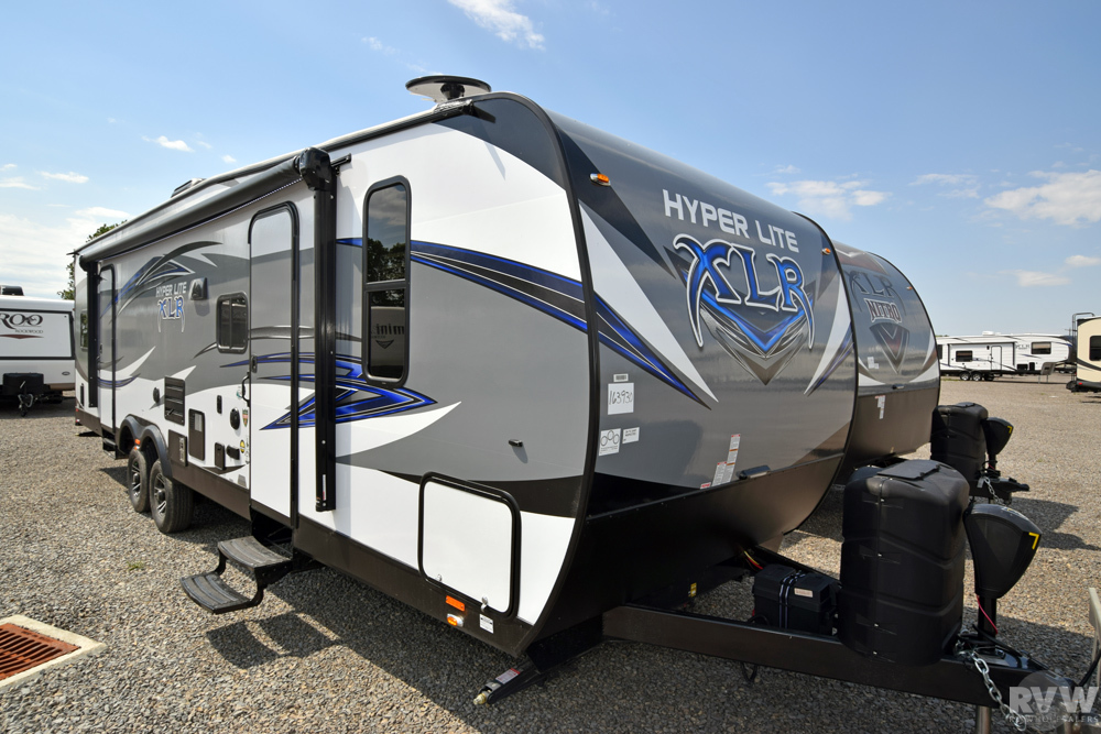 Click here to see the New 2018 XLR Hyper Lite 29HFS Toy Hauler Travel Trailer by Forest River at RVWholesalers.com