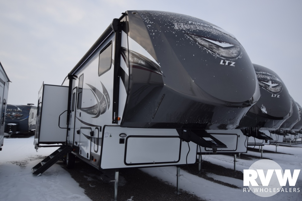 Click here to see the New 2018 Heritage Glen LTZ 286RL Fifth Wheel by Forest River at RVNation.us