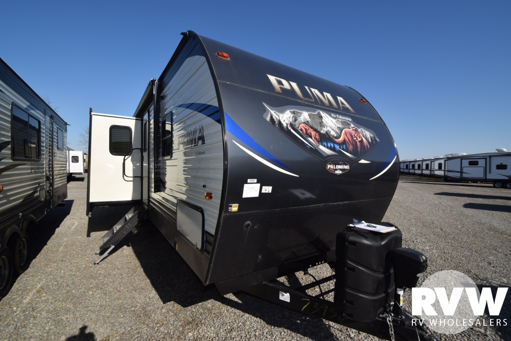 Click here to see the New 2018 Puma 32BHKS Travel Trailer by Palomino at RVNation.us