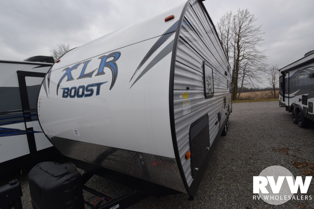 Click here to see the New 2018 XLR Boost 27QB Toy Hauler Travel Trailer by Forest River at RVWholesalers.com