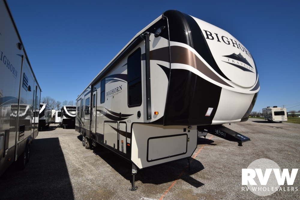 Click here to see the New 2018 Bighorn Traveler 39RD Fifth Wheel by Heartland RV at RVWholesalers.com