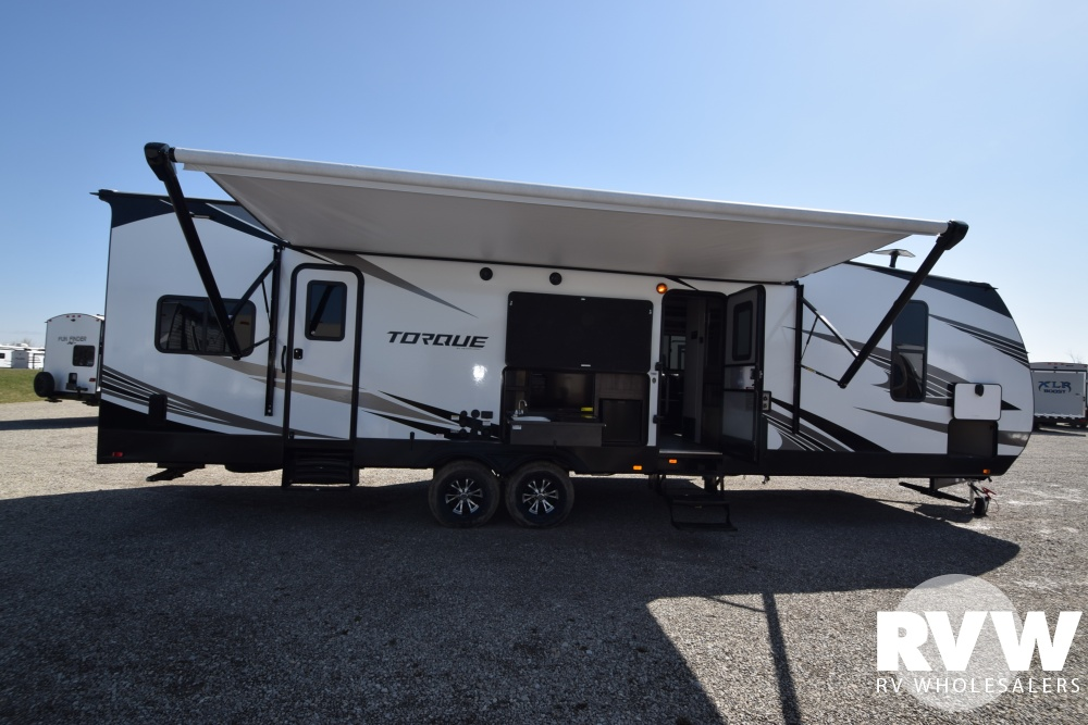 Click here to see the New 2018 Torque XLT T322 Toy Hauler Travel Trailer by Heartland RV at RVWholesalers.com