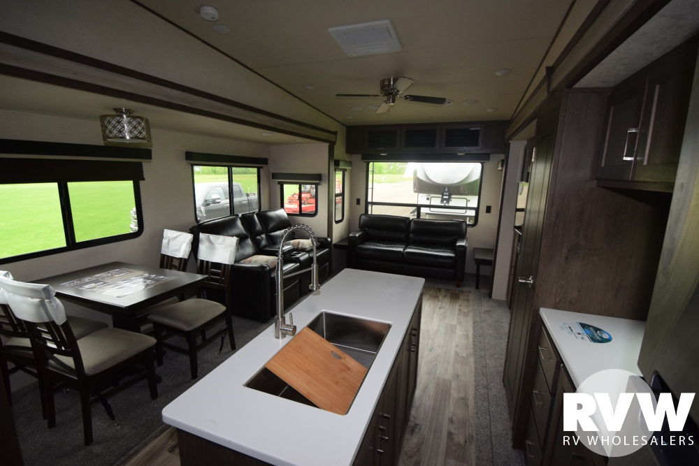 Click here to see the New 2018 Heritage Glen LTZ 337BAR Fifth Wheel by Forest River at RVWholesalers.com