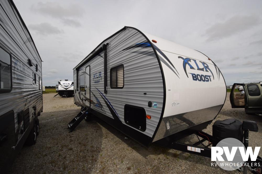 Click here to see the New 2019 XLR Boost 27QB Toy Hauler Travel Trailer by Forest River at RVNation.us