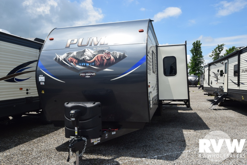 Click here to see the New 2019 Puma 31DBTS Travel Trailer by Palomino at RVNation.us