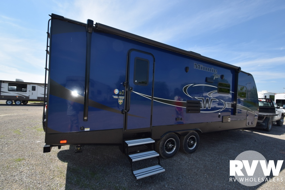 Click here to see the New 2019 Winnebago Minnie Plus 26RBSS Travel Trailer by Winnebago at RVWholesalers.com