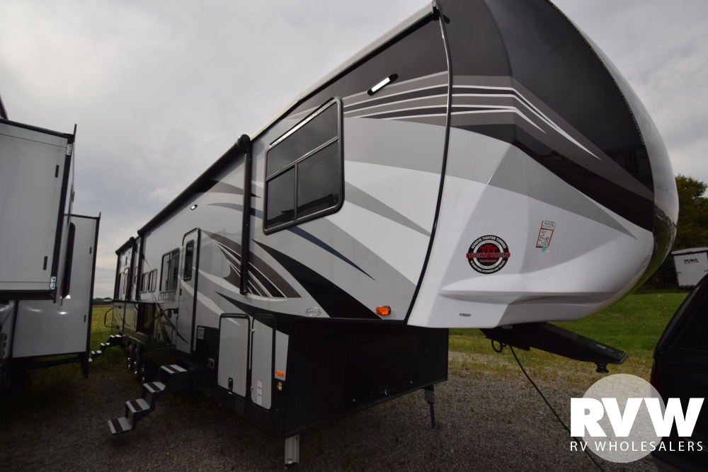 Click here to see the New 2019 Cyclone 4115 Toy Hauler Fifth Wheel by Heartland RV at RVWholesalers.com