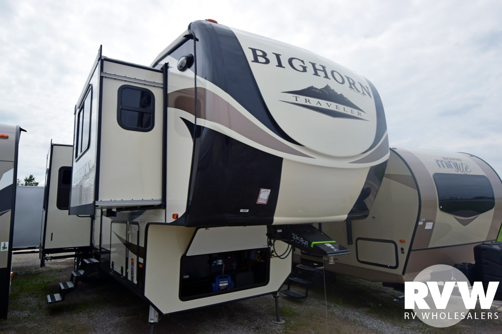 Click here to see the New 2019 Bighorn Traveler 39FL Fifth Wheel by Heartland RV at RVNation.us