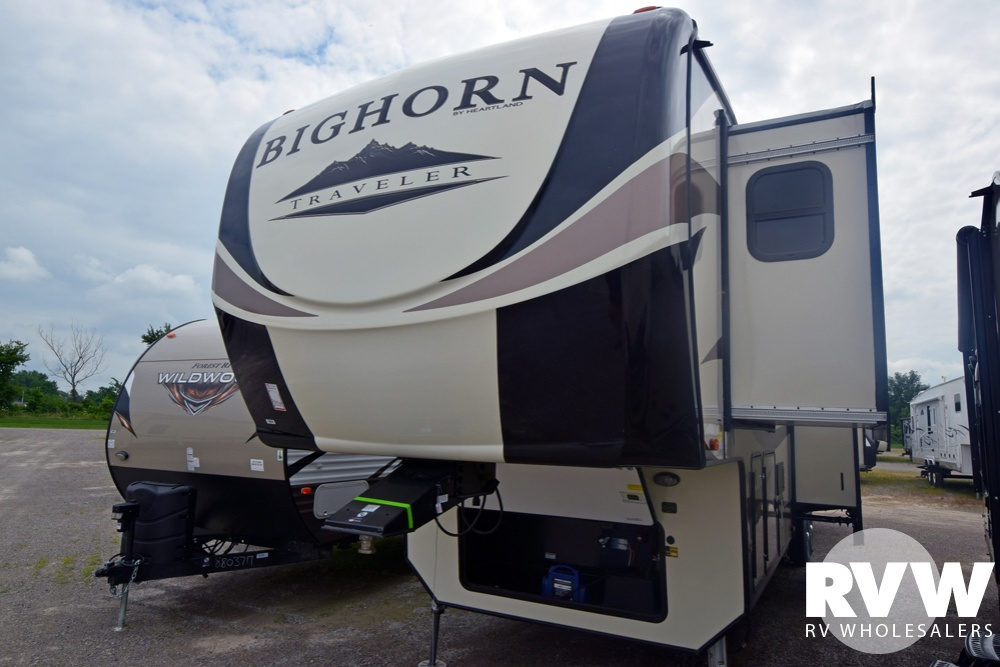 Click here to see the New 2019 Bighorn Traveler 39FL Fifth Wheel by Heartland RV at RVWholesalers.com