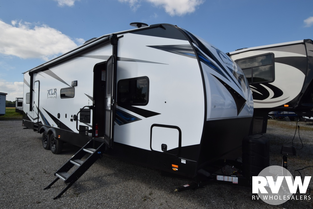 Click here to see the New 2019 XLR Hyper Lite 28HFX Toy Hauler Travel Trailer by Forest River at RVWholesalers.com