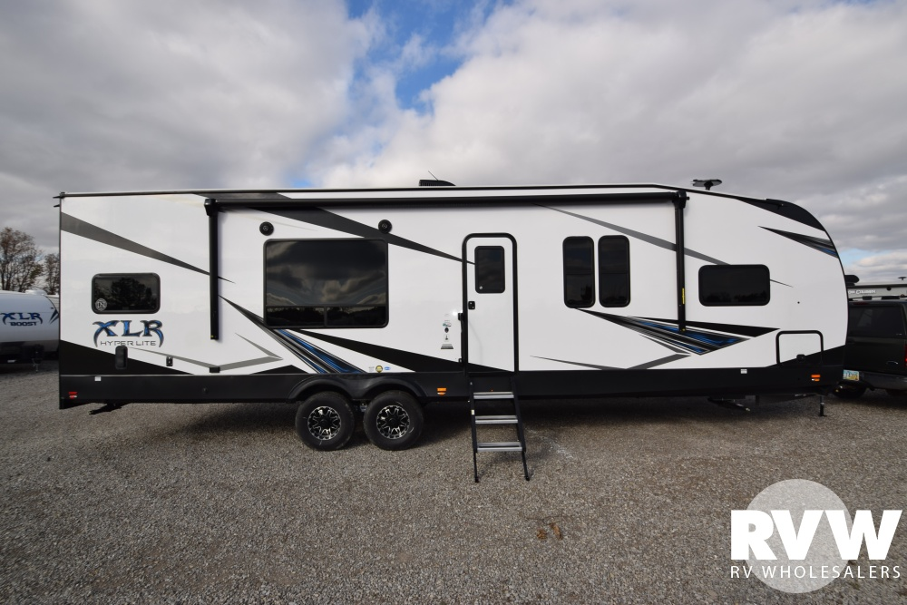 Click here to see the New 2019 XLR Hyper Lite 30HFX Toy Hauler Travel Trailer by Forest River at RVWholesalers.com