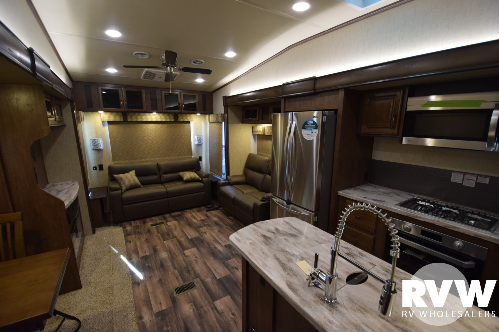 Click here to see the New 2019 Sandpiper 345RLOK Fifth Wheel by Forest River at RVWholesalers.com