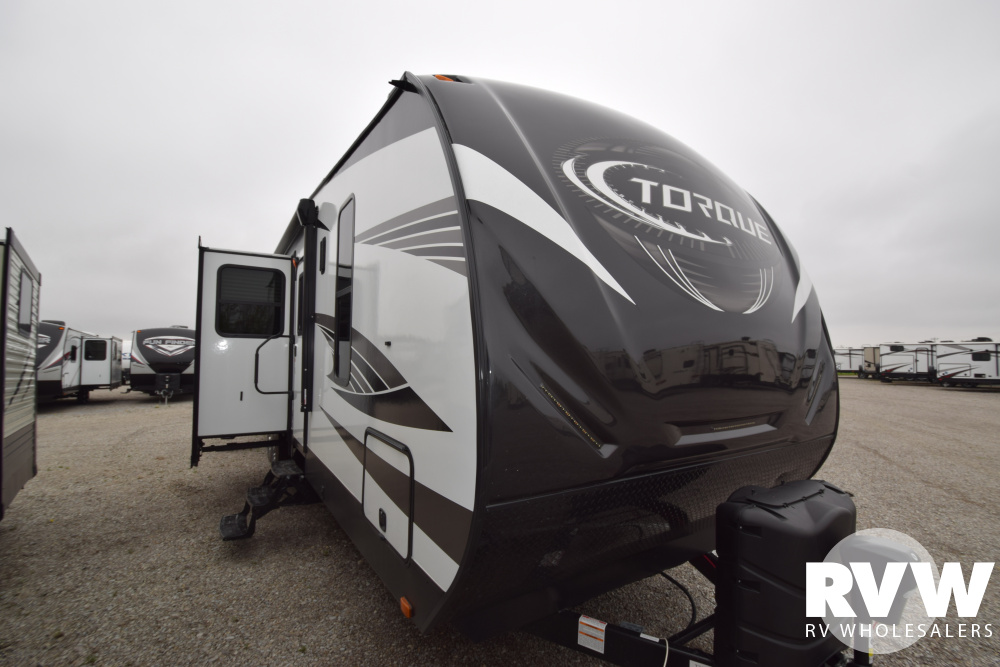 Click here to see the New 2020 Torque XLT T314 Toy Hauler Travel Trailer by Heartland at RVNation.us