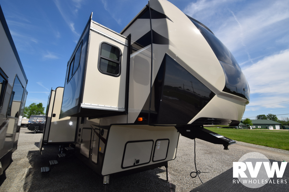 Click here to see the New 2020 Sandpiper 379FLOK Fifth Wheel by Forest River at RVWholesalers.com