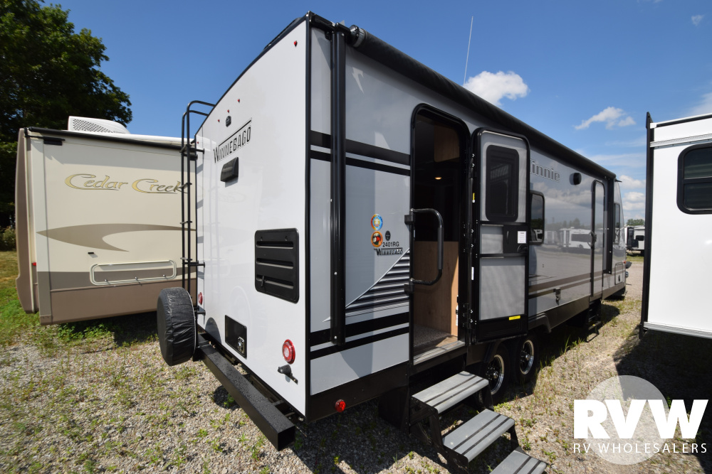 Click here to see the New 2020 Winnebago Minnie 2401RG Travel Trailer by Winnebago at RVWholesalers.com