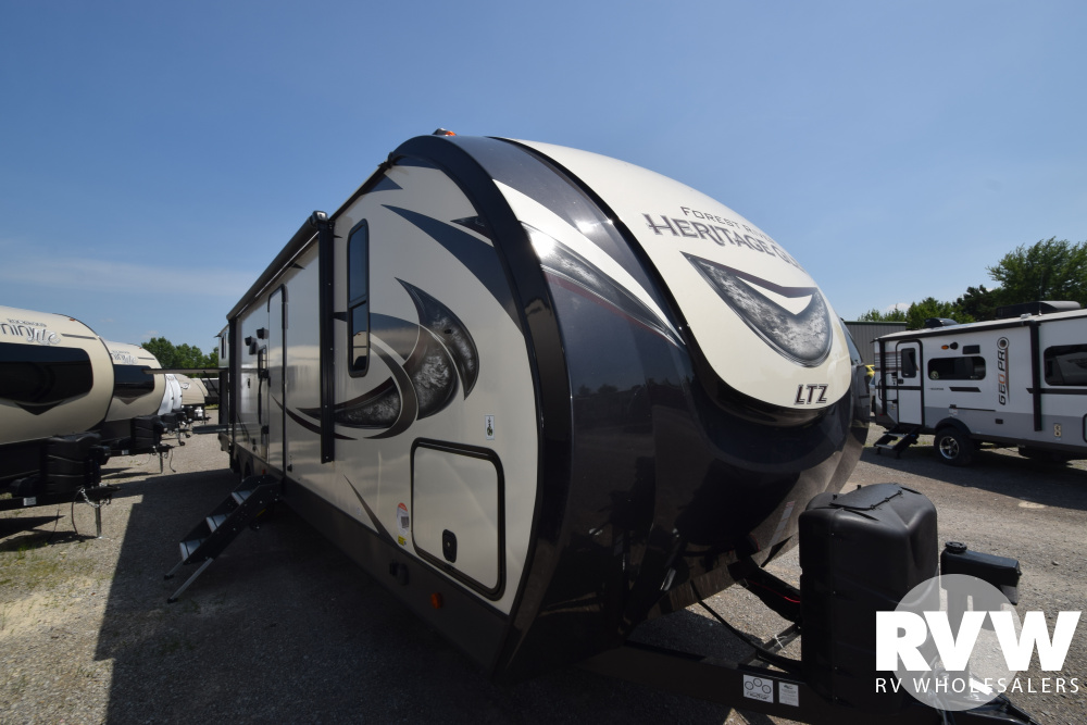Click here to see the New 2020 Heritage Glen LTZ 314BUD Travel Trailer by Forest River at RVWholesalers.com