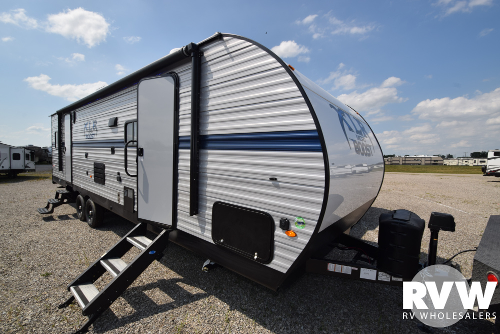 Click here to see the New 2020 XLR Micro Boost 27LRLE Toy Hauler Travel Trailer by Forest River at RVWholesalers.com